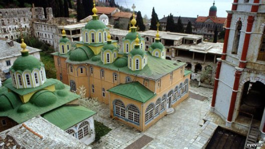 St. Panteleimon Monastery, Mount Athos, Greece,  (image: http://www.economist.com/news/christmas/21568601-monks-who-were-suppressed-tsars-navy-century-ago-are-still-regarded-subversive)