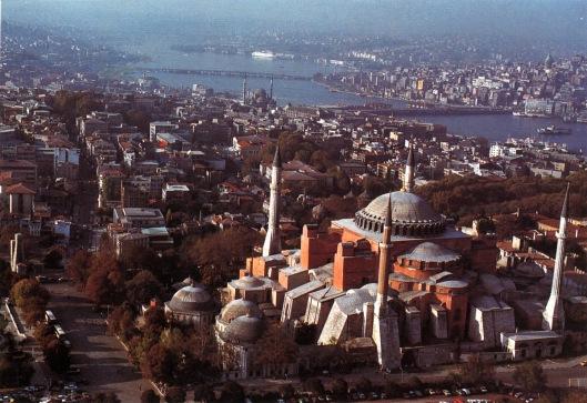 Aerial view of Hagia Sophia, Istanbul