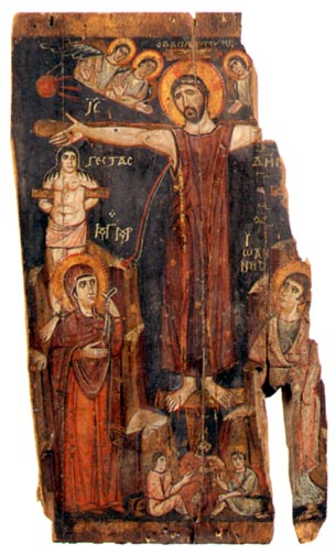 icon of the crucifixion 8th century mt sinai � byzbets