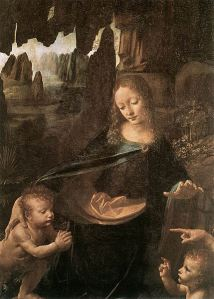 429px-Leonardo_da_Vinci_-_Virgin_of_the_Rocks_(detail)_-_WGA12695